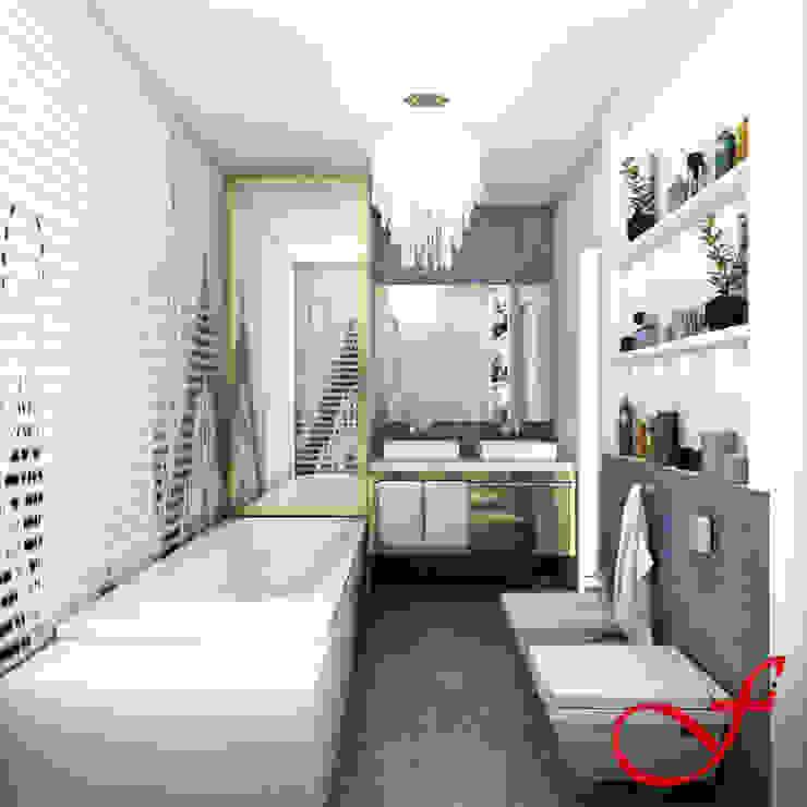 Residenza privata SG Bagno eclettico di Fenice Interiors Eclettico