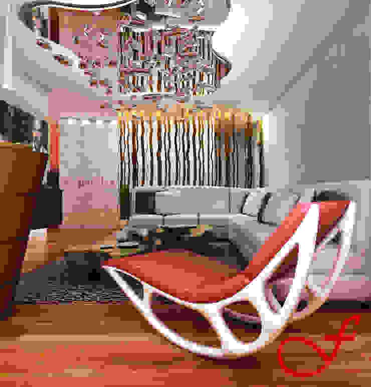 Residenza privata SG Soggiorno eclettico di Fenice Interiors Eclettico