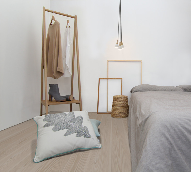 Clapham Common Flat 2 YAM Studios Camera da letto in stile scandinavo