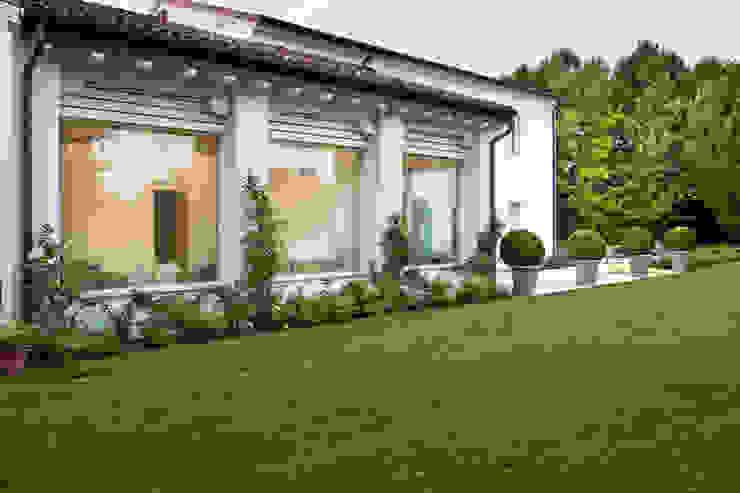 Interior design - Glass Cube Padova Balcone, Veranda & Terrazza in stile moderno di IMAGO DESIGN Moderno