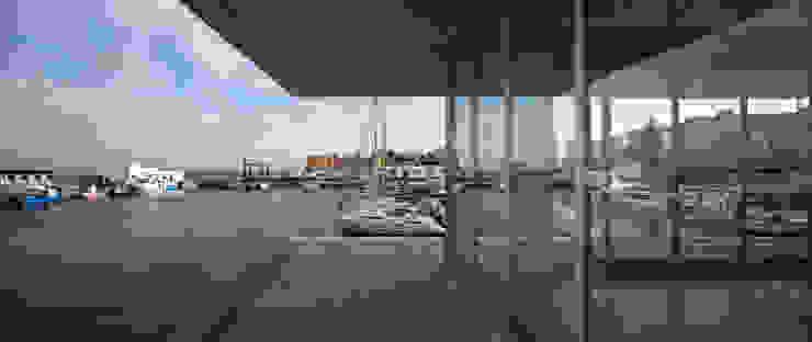 Office and Service Building in Port of Roquetas de Mar, Almería, Spain Donaire Arquitectos Negozi & Locali commerciali