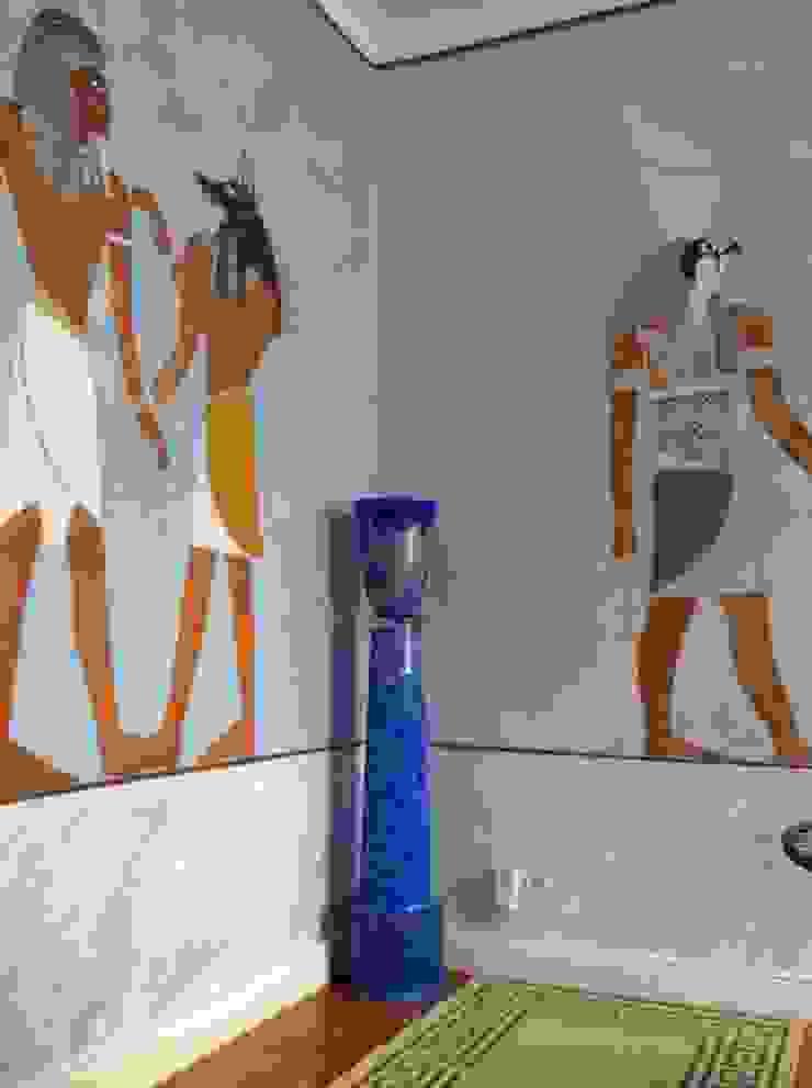 Hinterglasmalerei in Öltechnik im Ägyptischem Zimmer von Illusionen mit Farbe Kolonial