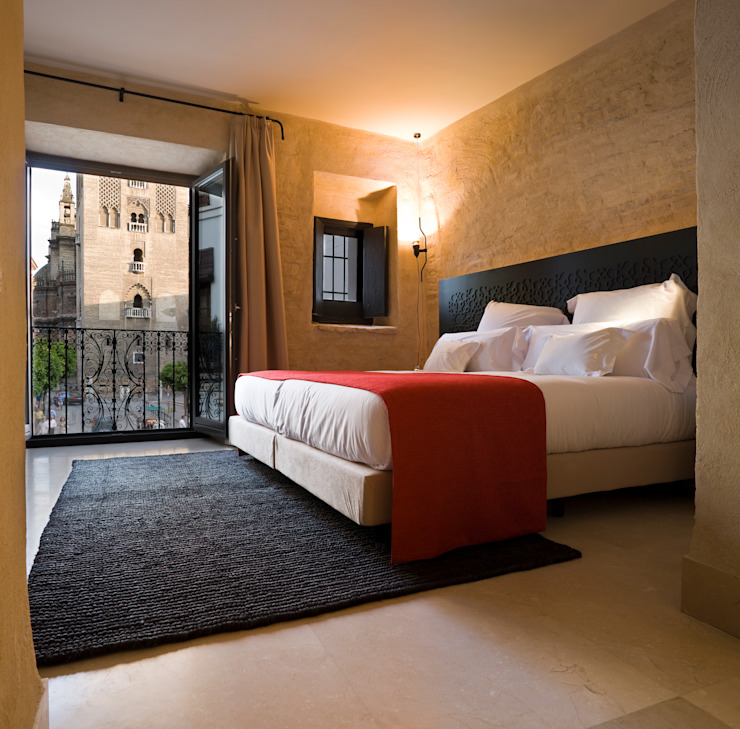 Hotel EME in Seville, Spain 에클레틱 침실 by Donaire Arquitectos 에클레틱 (Eclectic)