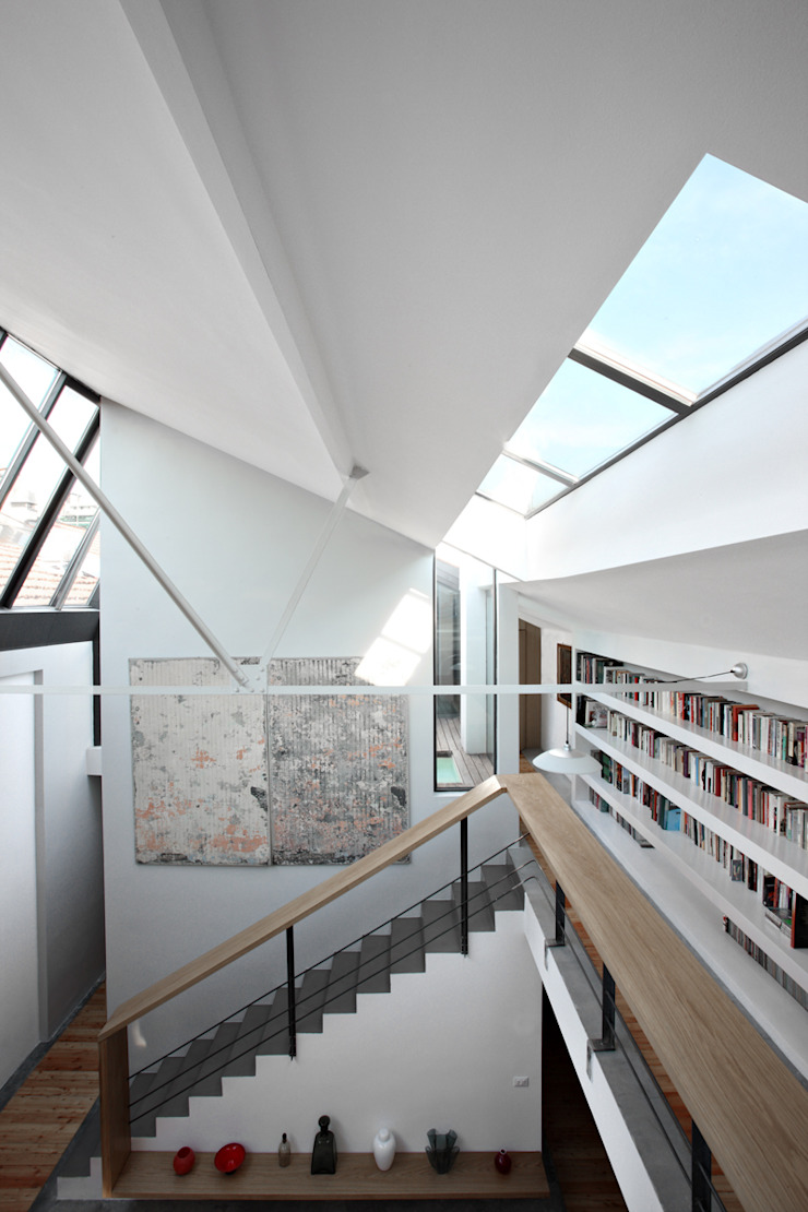 roberto murgia architetto industrial style corridor, hallway & stairs.