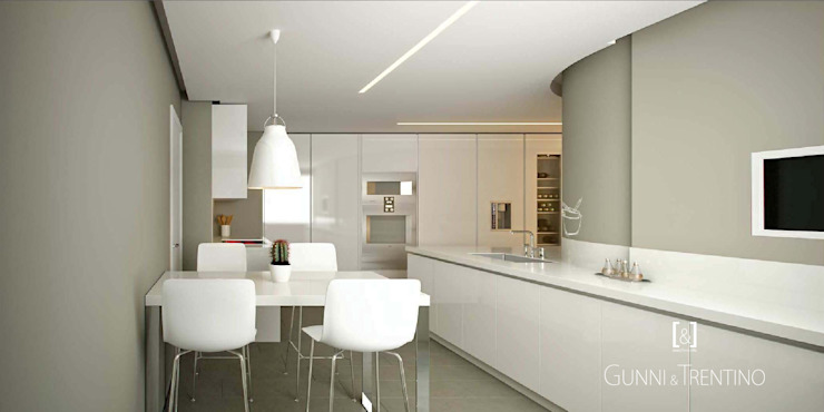 Cocina moderna blanca Gunni & Trentino de GUNNI & TRENTINO Moderno
