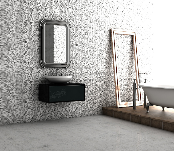 Miscellaneous of bathroom visualizations Baños de Sergio Casado