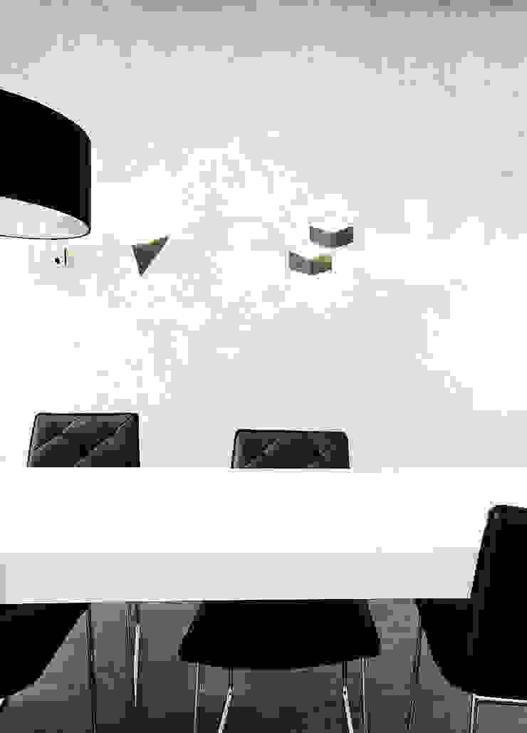 stylizowana ściana + kinkiety od TG STUDIO Industrialny