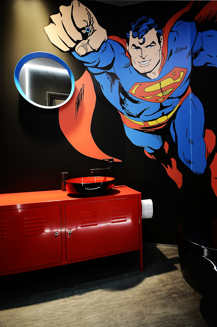 Pop-Art łazienka od TG STUDIO Industrialny