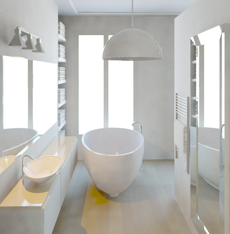 Baños de estilo moderno de Agence KP Moderno Compuestos de madera y plástico