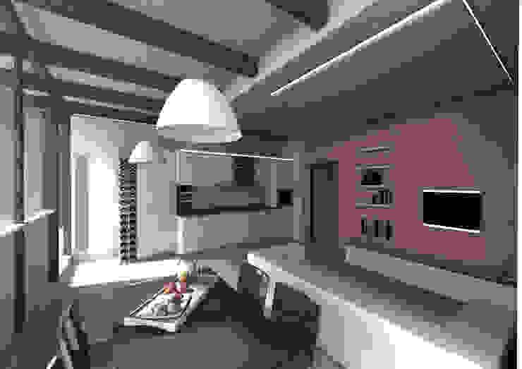 Casa SC – living room Soggiorno moderno di Wanda Loizzo Architect Moderno