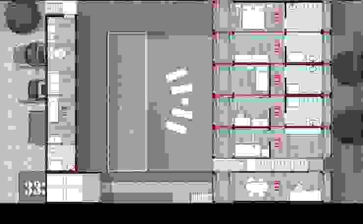 Pianta - Piano terra Case in stile industriale di GRUPPOFONARCHITETTI Industrial
