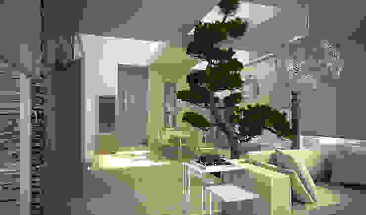 Residenza Privata in New Delhi Soggiorno moderno di Barbara Pizzi Moderno