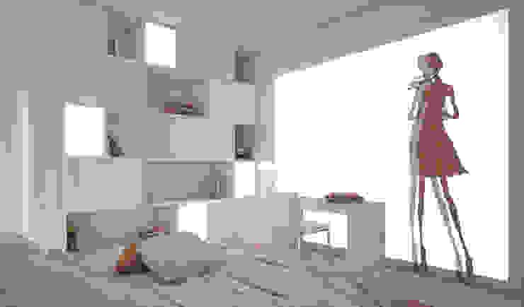 Residenza Privata in New Delhi Barbara Pizzi Camera da letto moderna