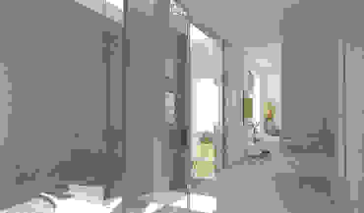 Residenza Privata in New Delhi Bagno moderno di Barbara Pizzi Moderno
