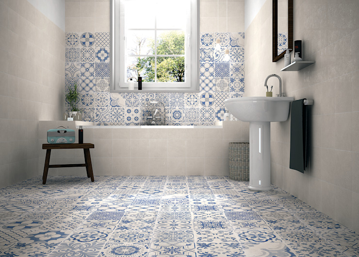 Skyros wall and floor tiles de homify Rural