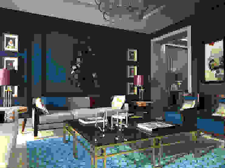 Vivienda en Madrid Salones de estilo moderno de diegoLADINO Moderno