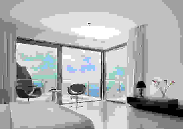 House at Andratx Minimalist Yatak Odası Octavio Mestre Arquitectos Minimalist