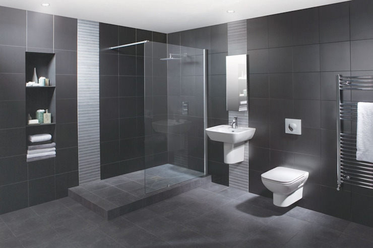 Wetroom Shower Areas nassboards Kamar Mandi Modern