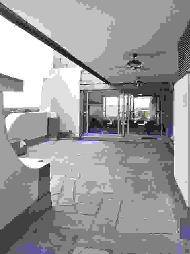 Art Deco Bürogebäude Ausgefallener Balkon, Veranda & Terrasse von Lehmann Art Deco Architekt Ausgefallen