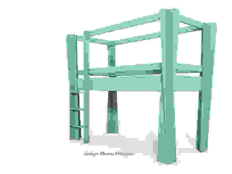 Lit mezzanine couleur de ZineZoé par ZineZoé Moderne