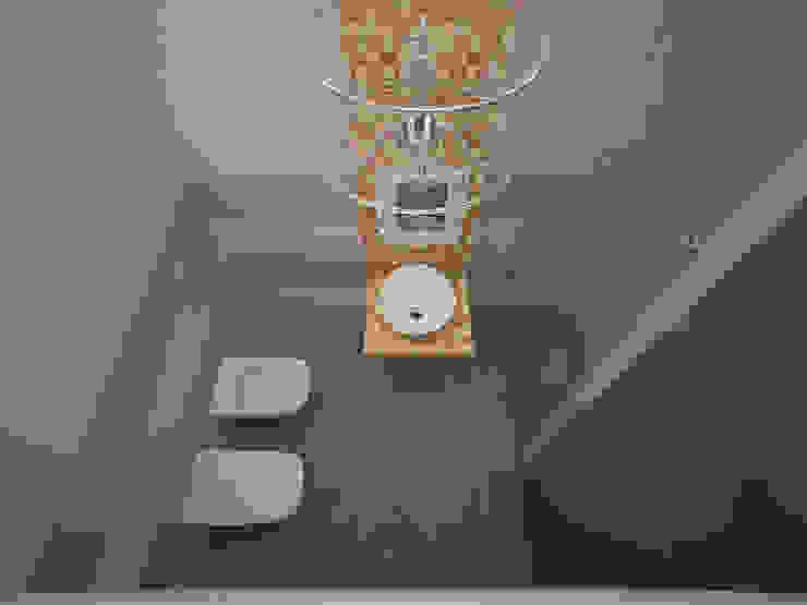 Banheiros ecléticos por labzona Eclético