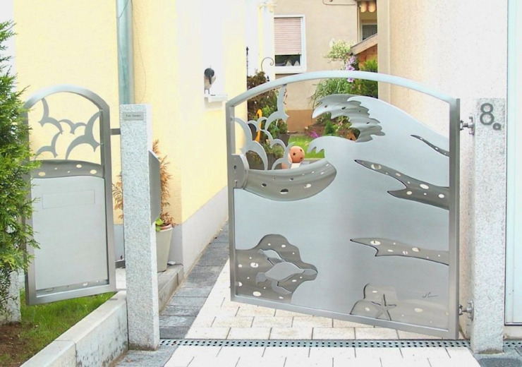 3D Stainless Steel Gates Modern style gardens by Edelstahl Atelier Crouse: Modern