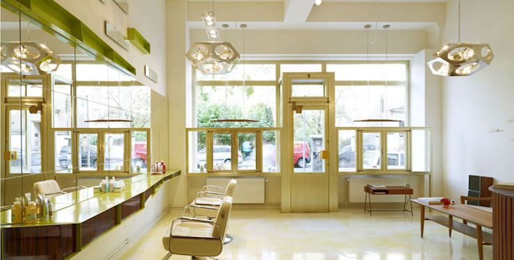 SHOPDESIGN MARC BENNEMANN FRISEURE Moderne Geschäftsräume & Stores von Philipp Walter Modern
