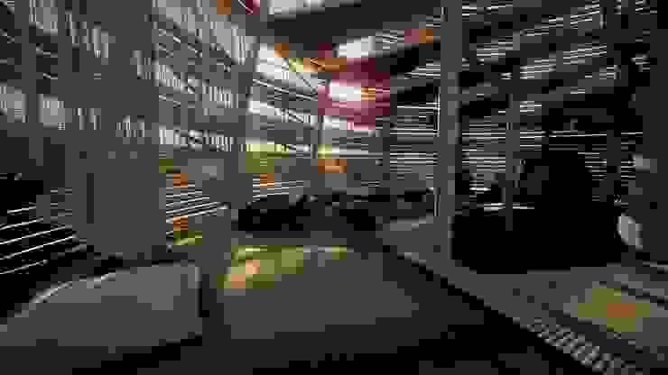 salotto Camera da letto eclettica di Five Core Eclettico