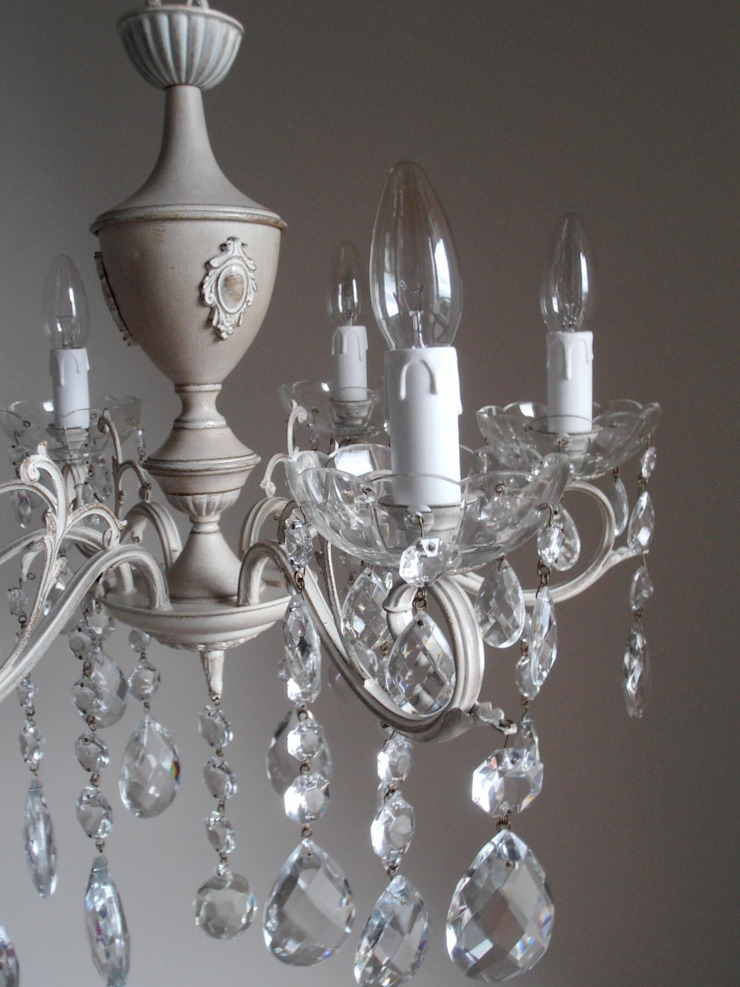 FIRENZE splendido e unico lampadario Milan Chic Chandeliers 6 bracci, vintage italiano anni 50, shabby chic di Milan Chic Chandeliers Eclettico