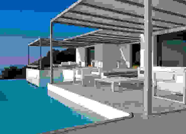 Vivienda Na Xemena Balcones y terrazas de estilo moderno de Ramón Esteve Estudio Moderno