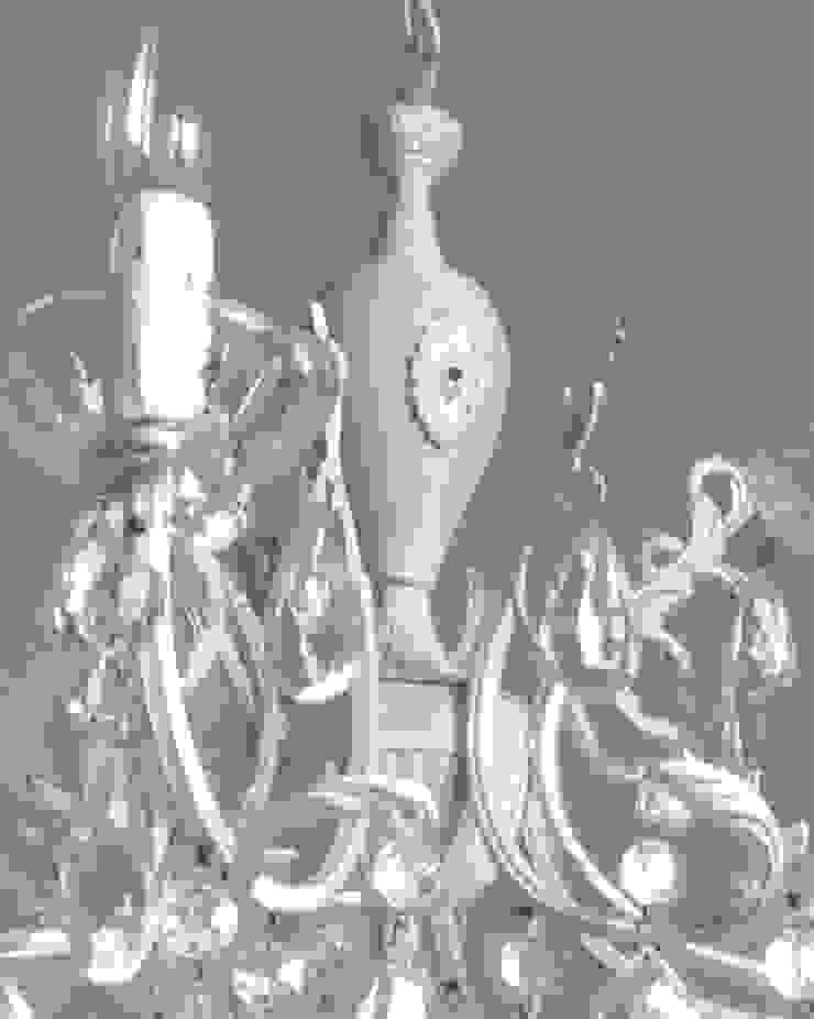 Splendido e unico lampadario Milan Chic Chandeliers 8 bracci, vintage italiano anni 50, shabby chic di Milan Chic Chandeliers Classico