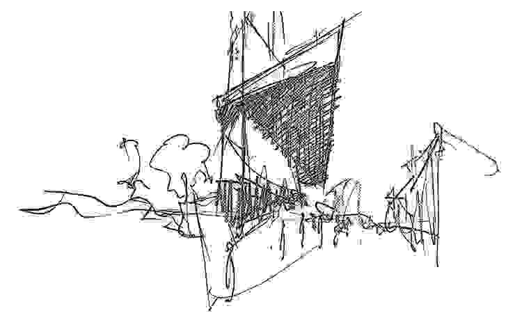 Boceto 2 Casas de estilo moderno de David Menéndez Ferreras Moderno