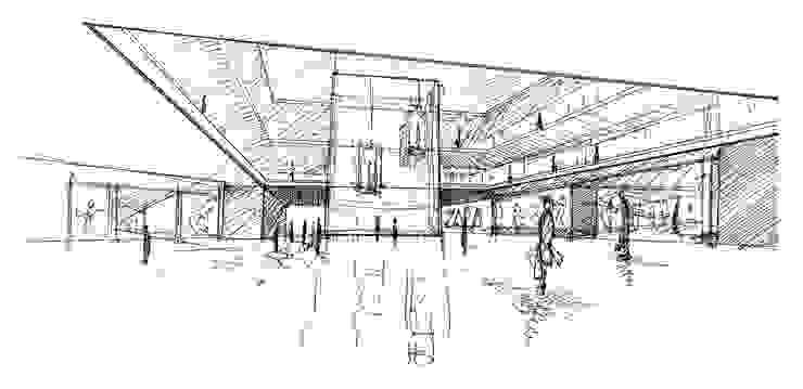 Boceto 1 Casas de estilo moderno de David Menéndez Ferreras Moderno