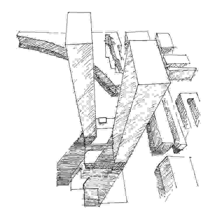 Boceto 3 Casas de estilo moderno de David Menéndez Ferreras Moderno