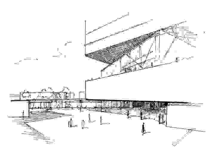 Boceto 4 Casas de estilo moderno de David Menéndez Ferreras Moderno