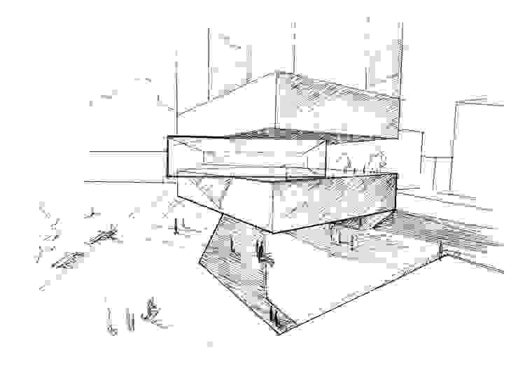 Boceto 5 Casas de estilo moderno de David Menéndez Ferreras Moderno