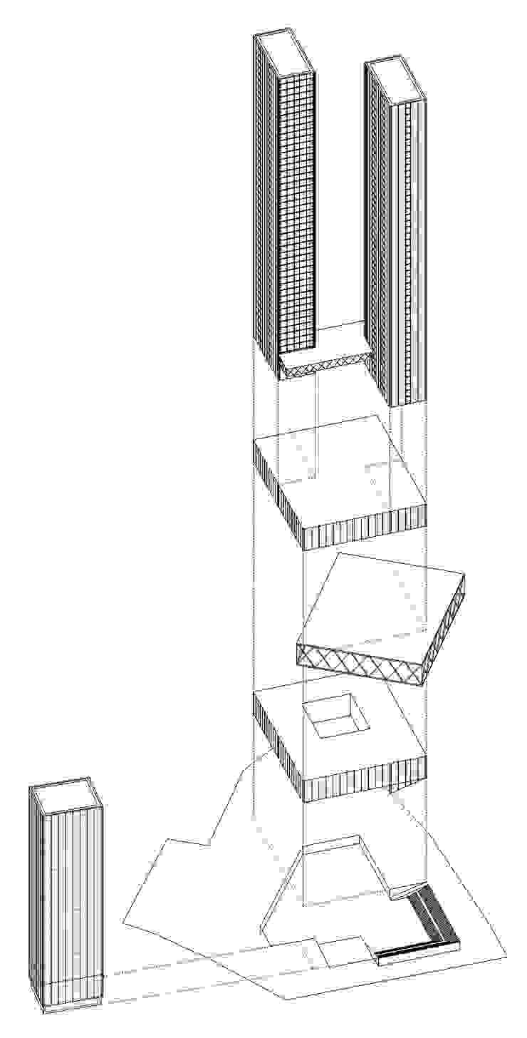 Axonométrico Casas de estilo moderno de David Menéndez Ferreras Moderno