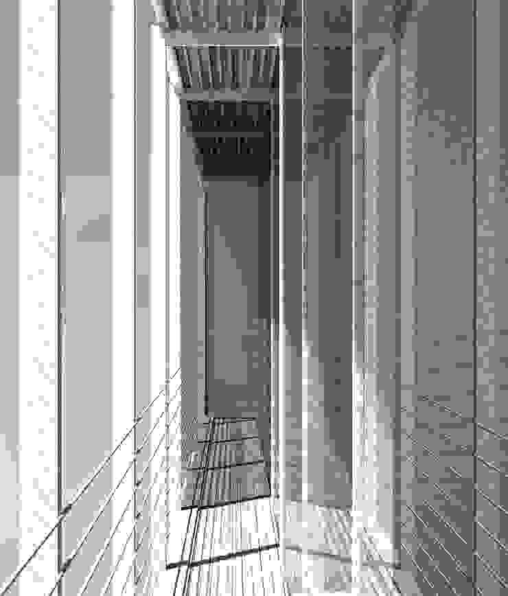 Render pasillo exterior Casas de estilo moderno de David Menéndez Ferreras Moderno