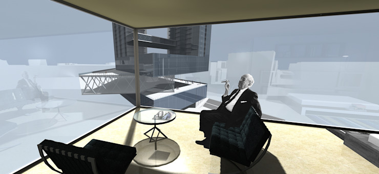 Render Casas de estilo moderno de David Menéndez Ferreras Moderno