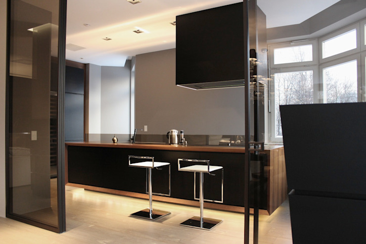 Cocinas de estilo minimalista de Ernesto Fusco Minimalista Madera Acabado en madera