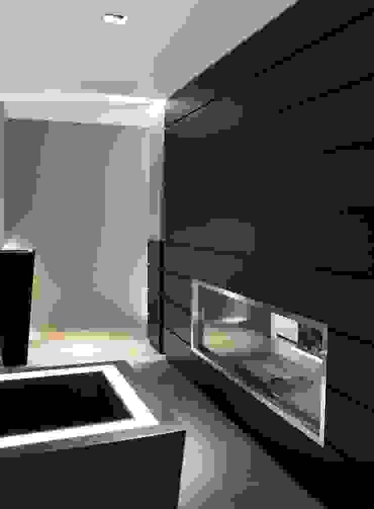 AEX home di Ernesto Fusco Moderno Legno Effetto legno