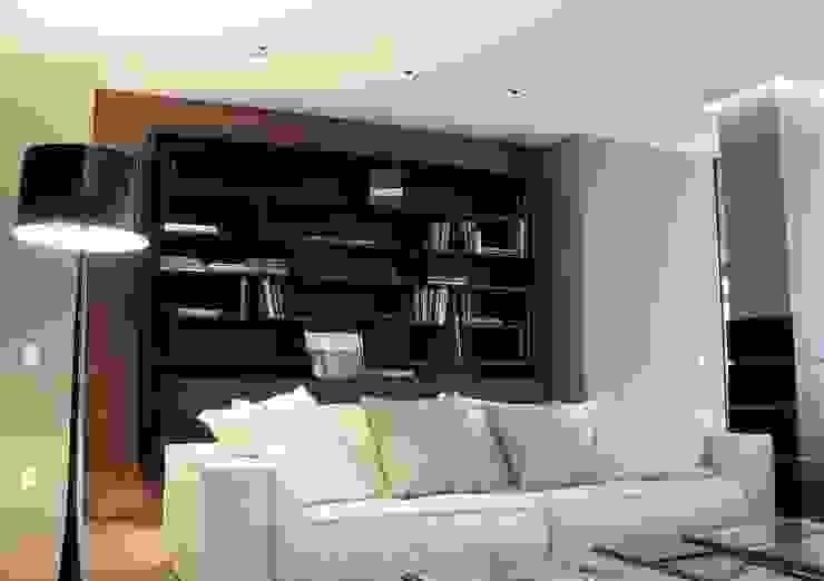Salas modernas de Ernesto Fusco Moderno Madera Acabado en madera