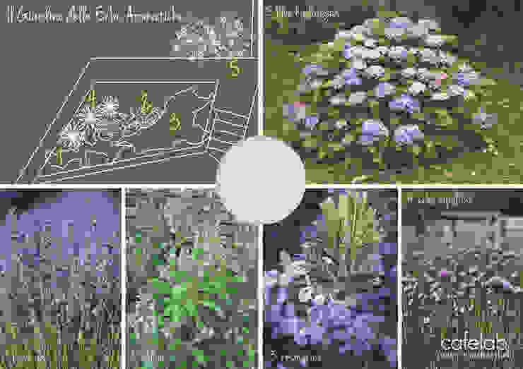 Un giardino in blu Giardino in stile mediterraneo di CAFElab studio Mediterraneo