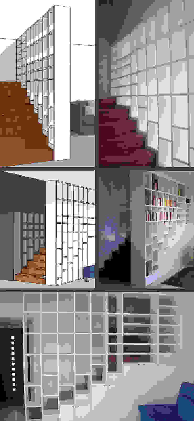 BUILT-IN BOOKSHELVES Soggiorno di Elisa Occhielli Architetto