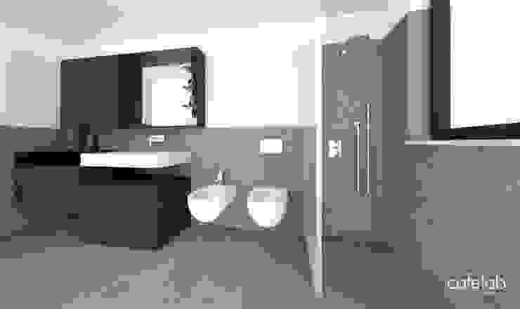 Guest bathroomn Bagno moderno di CAFElab studio Moderno