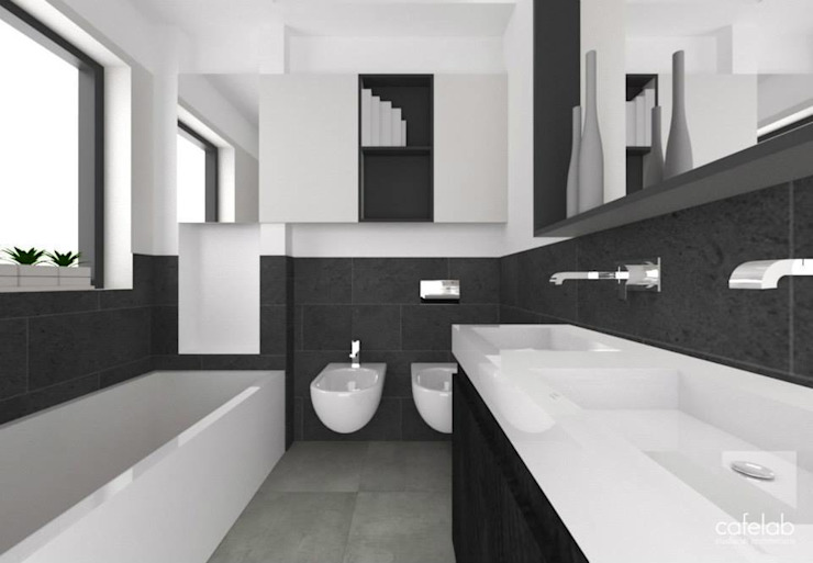 Master bathroom Bagno moderno di CAFElab studio Moderno