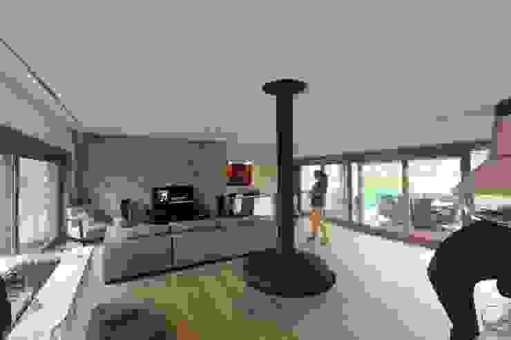 Rustikale Wohnzimmer von HUGA ARQUITECTOS Rustikal