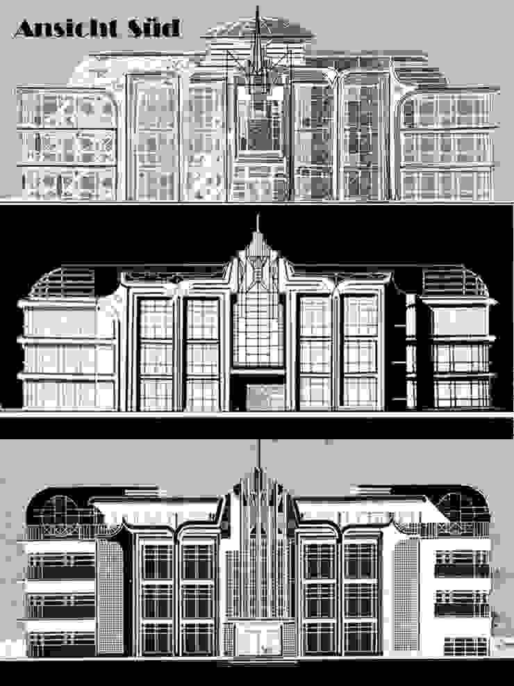 Eclectic style office buildings by Lehmann Art Deco Architekt Eclectic