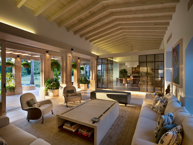 Rustic style living room by Artigas Arquitectos Rustic