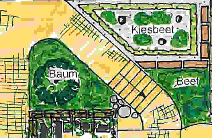 Planausschnitt Vorgarten MEINE GARTENBERATER Klassischer Garten